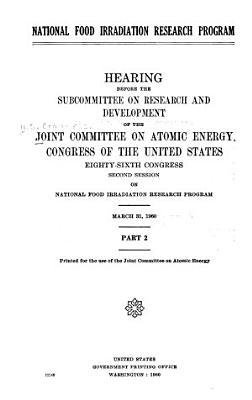 National Food Irradiation Research Program PDF