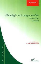 Phonologie de la langue koalibe: Dialecte réré (Soudan) - Grammaire d'une langue kordofanienne