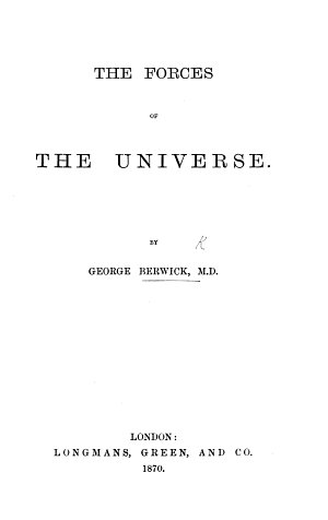 The Forces of the Universe