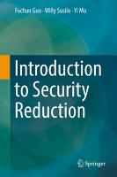 Introduction to Security Reduction PDF