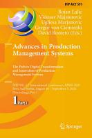 Advances in Production Management Systems  The Path to Digital Transformation and Innovation of Production Management Systems PDF