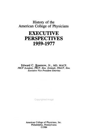 History of the American College of Physicians PDF