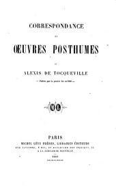 Correspondance et oeuvres posthumes