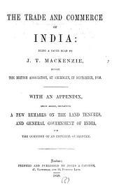 The trade and commerce of India