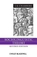 Sociolinguistic Theory PDF