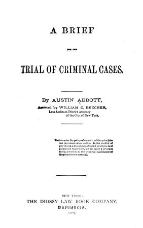 A Brief for the Trial of Criminal Cases PDF