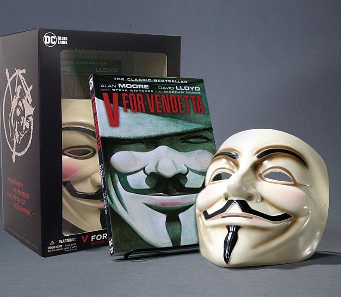 Download V for Vendetta Book and Mask Set Book