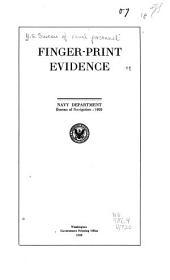 Finger-print Evidence: Navy Department, Bureau of Navigation: 1920