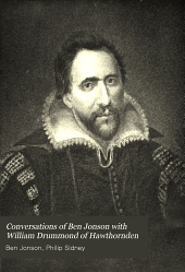 Conversations of Ben Jonson with William Drummond of Hawthornden