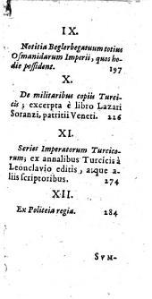 Turcici imperii status. seu Discursus varij de rebus Turcarum