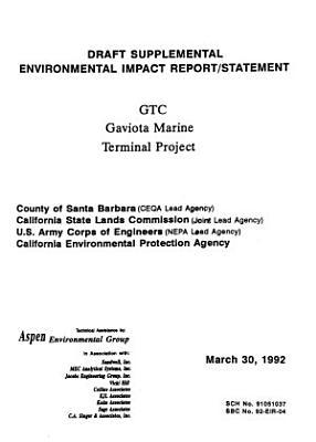 Gaviota Marine Terminal Project  Santa Barbara County