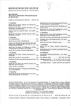 Medizinische Klinik PDF