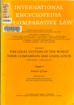 International Encyclopedia of Comparative Law: The legal systems of the world