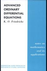 Advanced Ordinary Differential Equations PDF