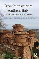 Greek Monasticism in Southern Italy PDF