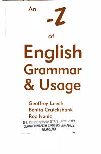 An A Z of English Grammar   Usage