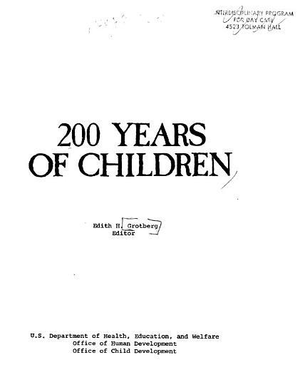 200 Years of Children PDF
