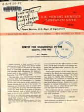 Forest Fire Occurrence in the South, 1956-1965