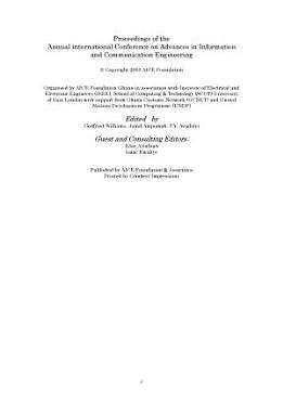 Proceedings of International Conference on Advances in Information and Communication Engineering PDF