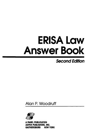 ERISA Law Answer Book