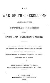The War of the Rebellion: a compilation of the official records of the Union and Confederate armies, Volume 20, Part 2