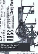 Minnesota Farmers' Institute Annual ...