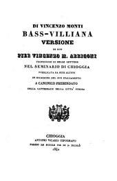 Bass-Villiana, versione di Pier Vincenzo M. Arrigoni. - Chioggia, Vicario 1840