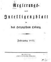 Regierungs- und Intelligenzblatt für das Herzogtum Coburg: 1852