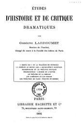 Etudes d'histoire et de critique dramatiques