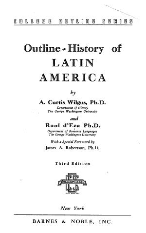 Outline history of Latin America PDF
