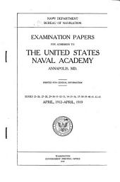 Examination Papers of Admission to the United States Naval Academy ...