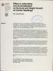 Effect of jellyrolling and acclimatization on survival and height growth of conifer seedlings