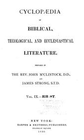 Cyclopaedia of Biblical, Theological, and Ecclesiastical Literature: Volume 9