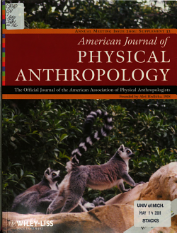 Program of the     Annual Meeting of the American Association of Physical Anthropologists PDF