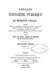 Annales d'hygiène publique et de médecine légale: Volume29