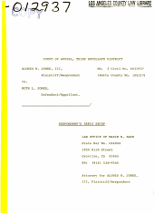 California. Court of Appeal (3rd Appellate District). Records and Briefs: C012937, Respondent Brief