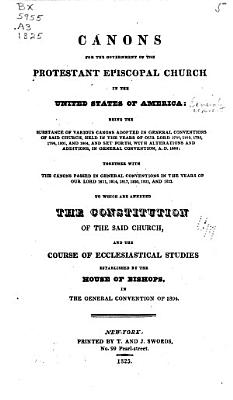 Canons for the Government of the Protestant Episcopal Church in the United States of America PDF