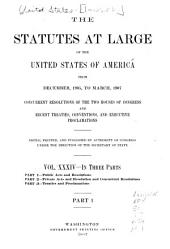 The Statutes at Large of the United States: Volume 34, Part 1