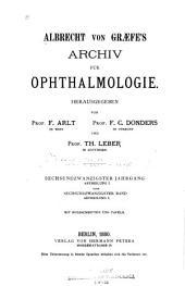Albrecht von Graefes Archiv für klinische und experimentelle Ophthalmologie: Band 26