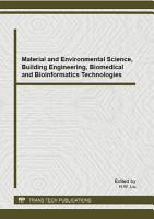 Material and Environmental Science  Building Engineering  Biomedical and Bioinformatics Technologies PDF