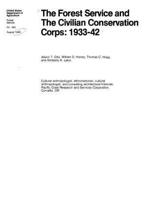 The Forest Service and the Civilian Conservation Corps  1933 42 PDF