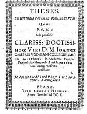 Theses ex historia paganae Boemiae erutae
