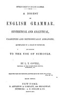 A Digest of English Grammar  Synthetical and Analytical     PDF