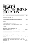 The Journal of Health Administration Education PDF
