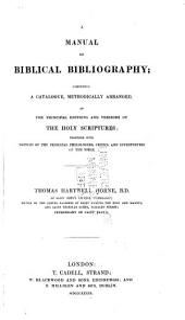 A Manual of Biblical Bibliography, etc