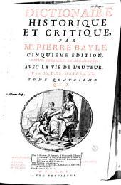 Dictionaire historique et critique: Volume4