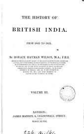 The History of British India: Volume 9