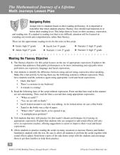 The Mathematical Journey of a Lifetime--Reader's Theater Script & Fluency Lesson