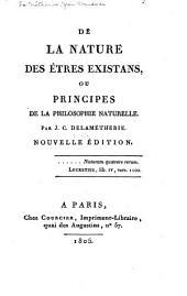De la nature des êtres existans, ou, Principes de la philosophie naturelle