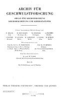 Archiv fuer Geschwulstforschung